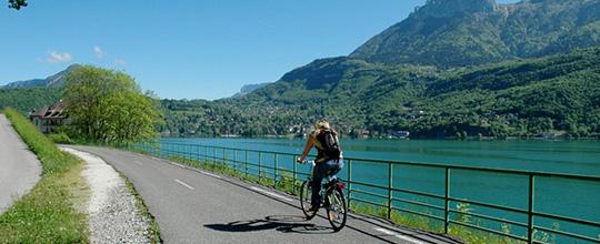 Les circuits vélo à Annecy